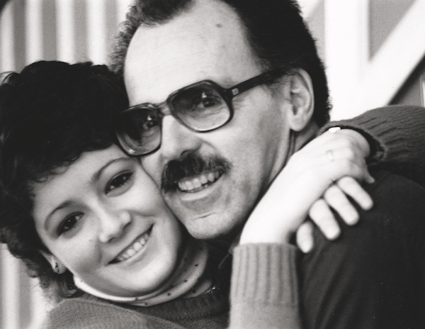 Alison Wearing and her father, 1982 (photo:  courtesy of Knopf Canada)