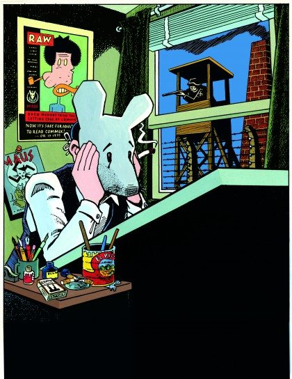 Art Spiegelman, Self-Portrait with Maus Mask, 1989. (Copyright © 1989 by Art Spiegelman. Used by permission of the artist and The Wylie Agency LLC.)