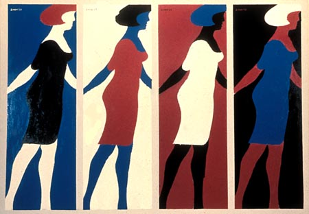 """Michael Snow's """"Four,"""" from the Walking Woman series"""