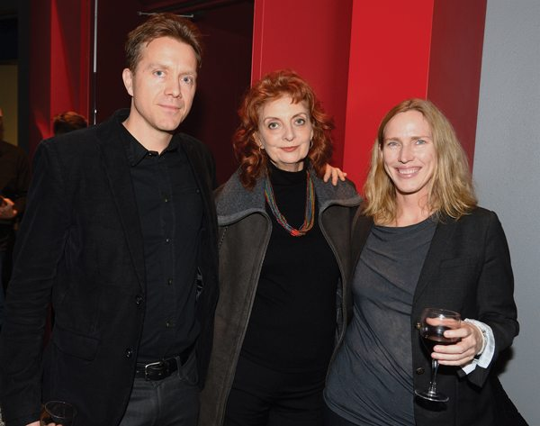 Louise Dennys and Miriam Toews with Erik Rutherford (photo: Tom Sandler)