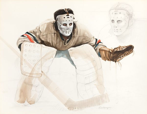 """Ken Danby, Study for """"At the Crease,"""" 1972. From Ken Danby: Beyond the Crease by Ihor Holubizky (Art Gallery of Hamilton/Goose Lane)"""