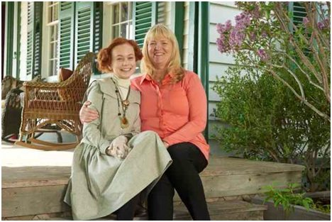 Actor Ella Ballentine (L) and executive producer (and L.M. Montgomery's granddaughter) Kate Macdonald Butler. Photo: Steve Wilki