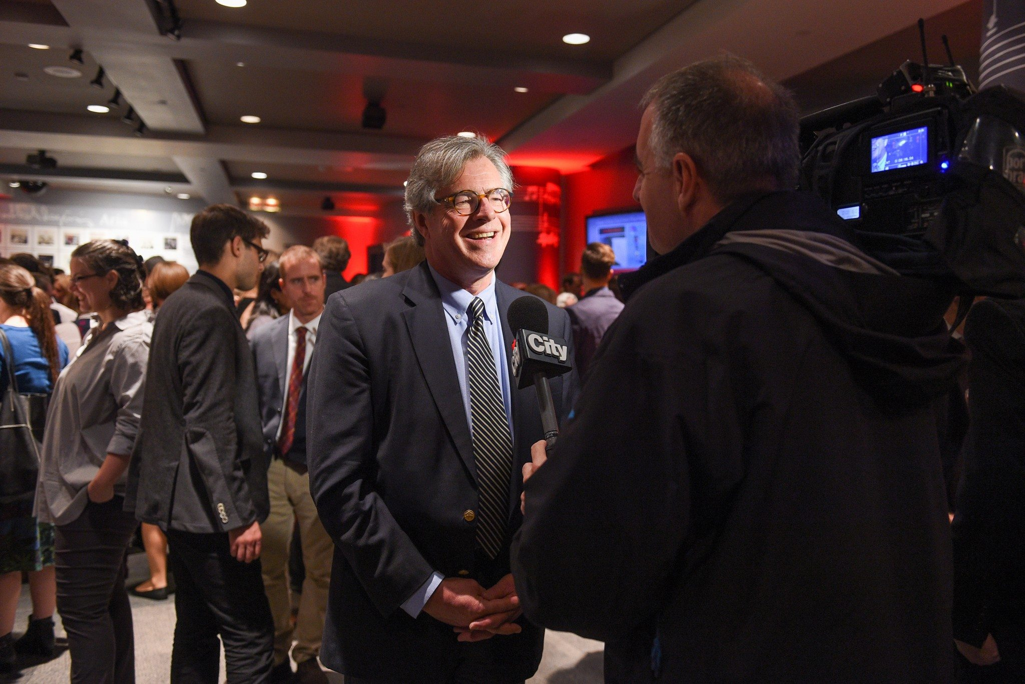 WT chair Doug Knight interviewed by CityTV (Photo: George Pimentel Photography)
