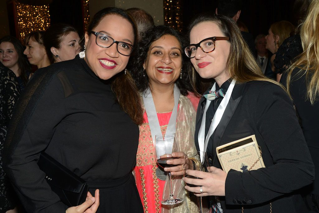 Author and Festival of Literary Diversity founder Jael Richardson with authors Farzana Doctor and Cherie Dimaline (photo: Tom Sandler)