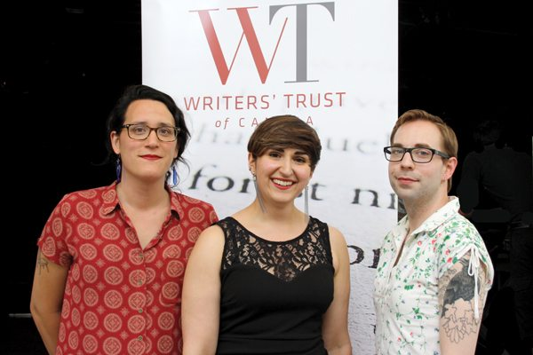 Jia Qing Wilson-Yang, Leah Horlick, and Gwen Benaway at the Canadian Writers' Summit in June (Photo: Katrina Afonso)