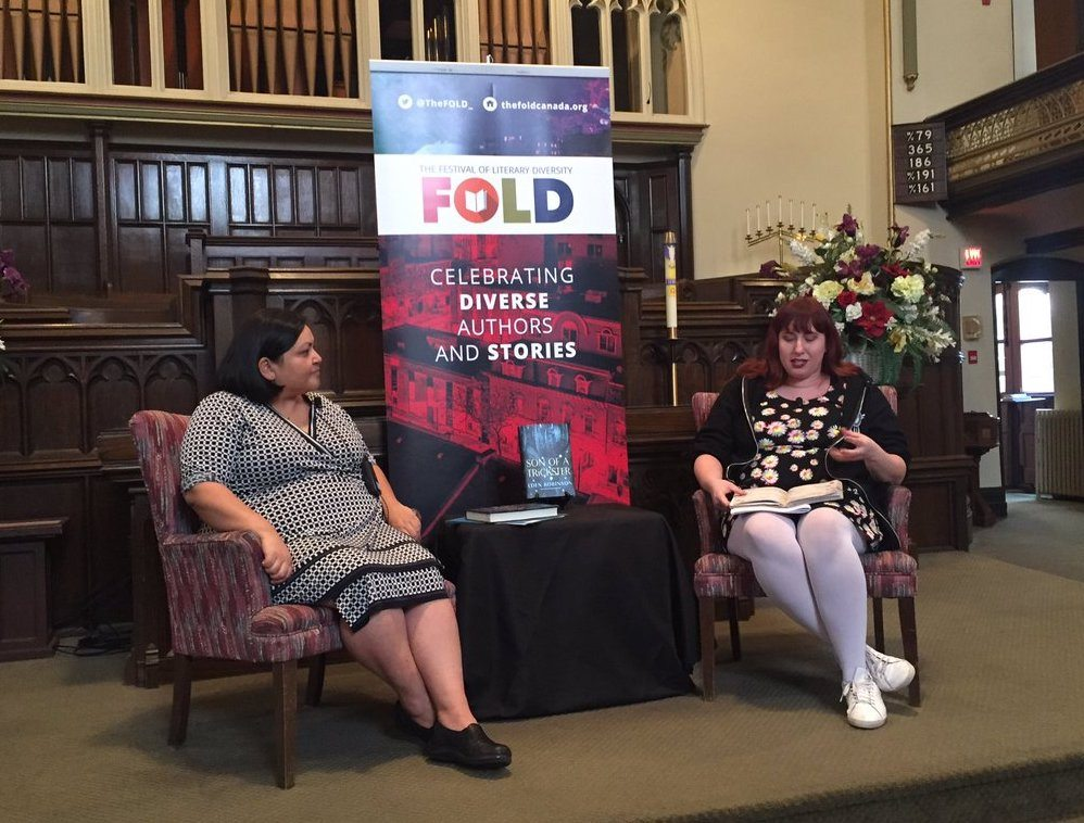 Eden Robinson and Alicia Elliott at this year's FOLD (via Twitter)
