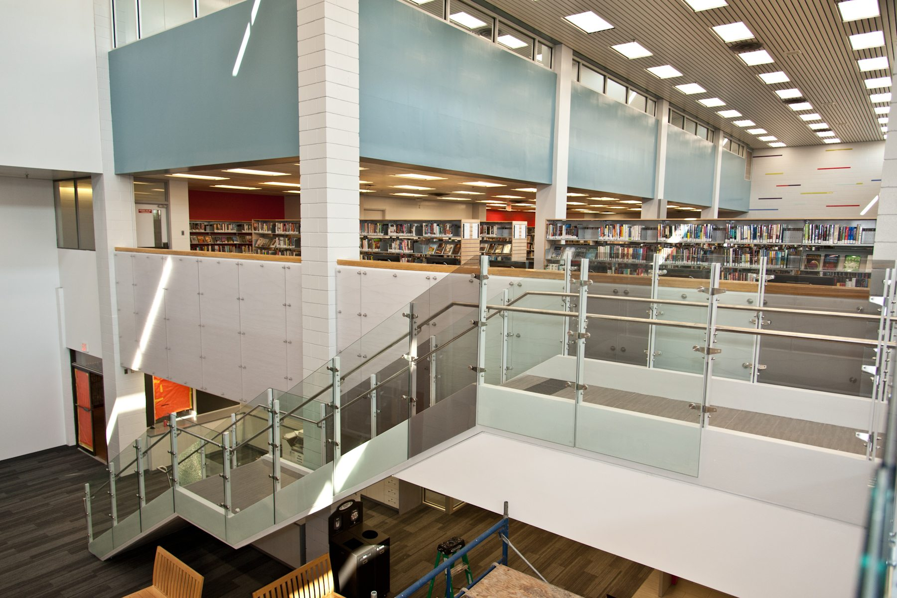 """You want to be sure that when those avid millennial library users walk through the door, they're welcomed in a way they feel comfortable with,"" Raven says. ""I think it's an exciting feeling now when you walk through the door in this space."""